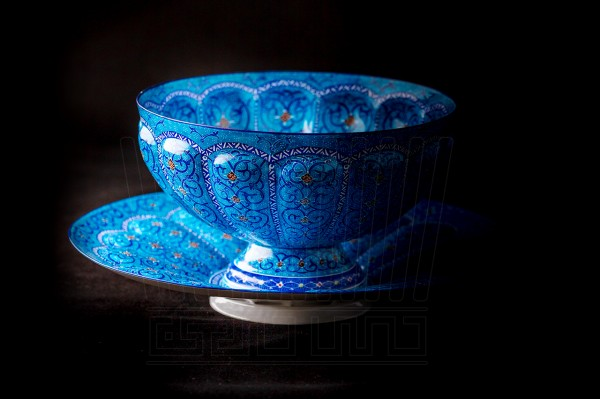 Enameling Bowl Nuts 3 Turquoise Color