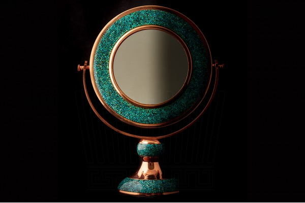 Turquoise Mirror and candlelight